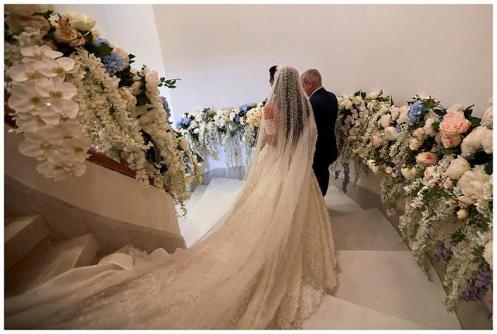 sposa e padre Matrimonio Jw Marriot Venezia