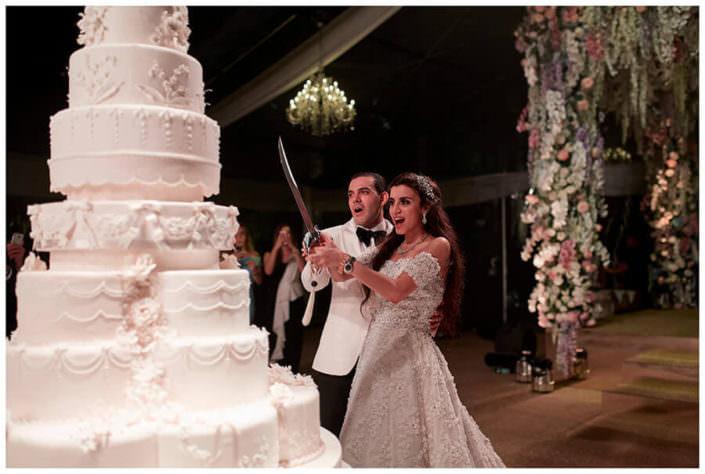 taglio torta Matrimonio Jw Marriot Venezia