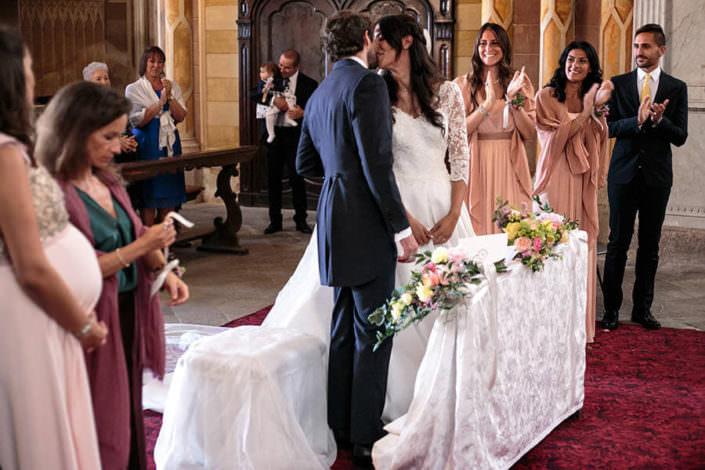 Bacio Sposi cerimonia matrimonio