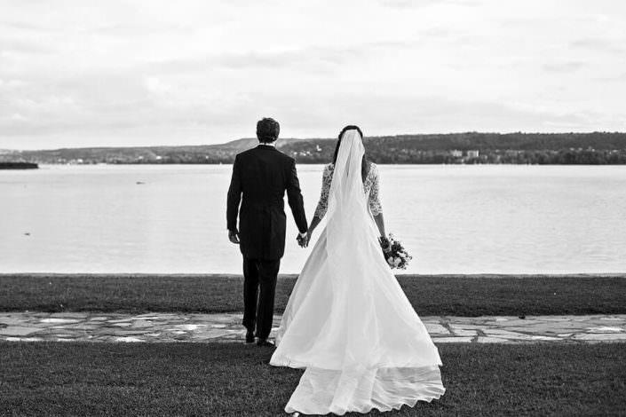 Ritratto sposi di spalle