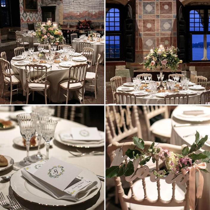 Matrimonio Rocca di Angera allestimenti floreali