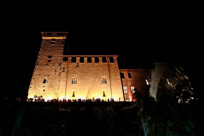 Matrimonio Rocca di Angera panoramica notturna