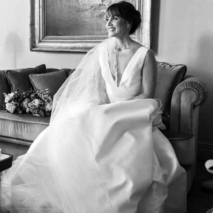 Ritratto sposa bianco e nero