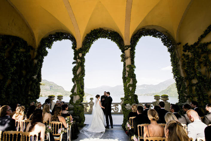 Matrimonio Villa Balbianello panoramica cerimonia