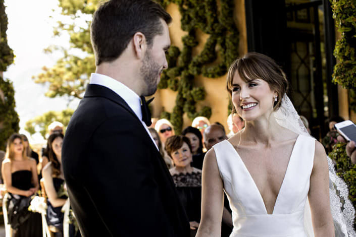 Matrimonio Villa Balbianello sposi cerimonia