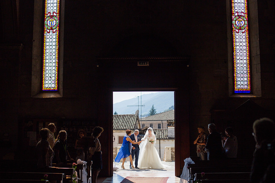Ingresso sposa cerimonia