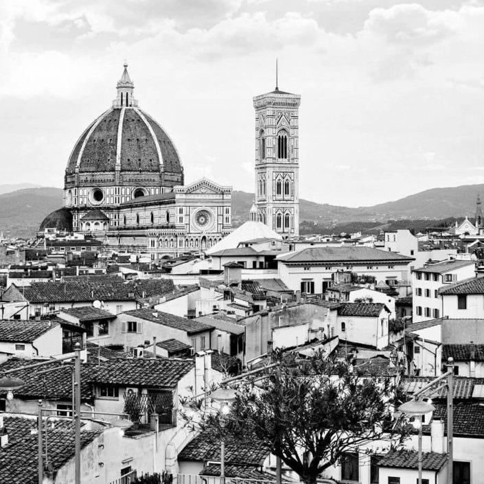 Panoramica Firenze in Bianco e Nero