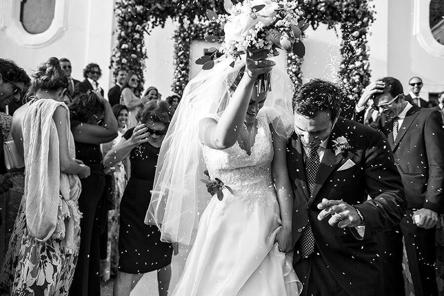Fotografo Matrimonio Costiera Amalfitana lancio del riso