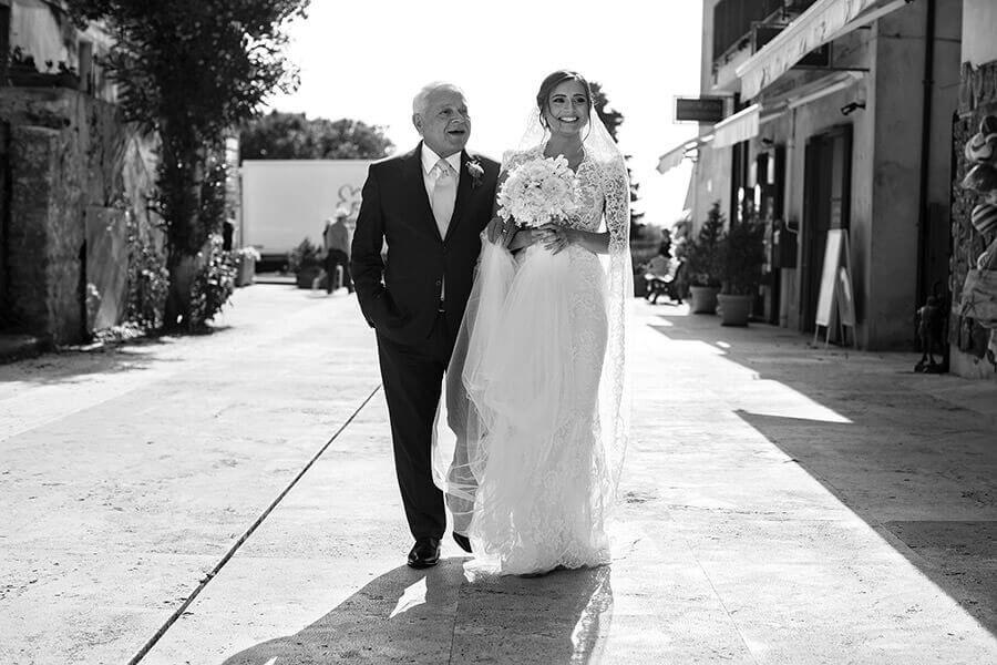 Fotografo Matrimonio Siena sposa con papà