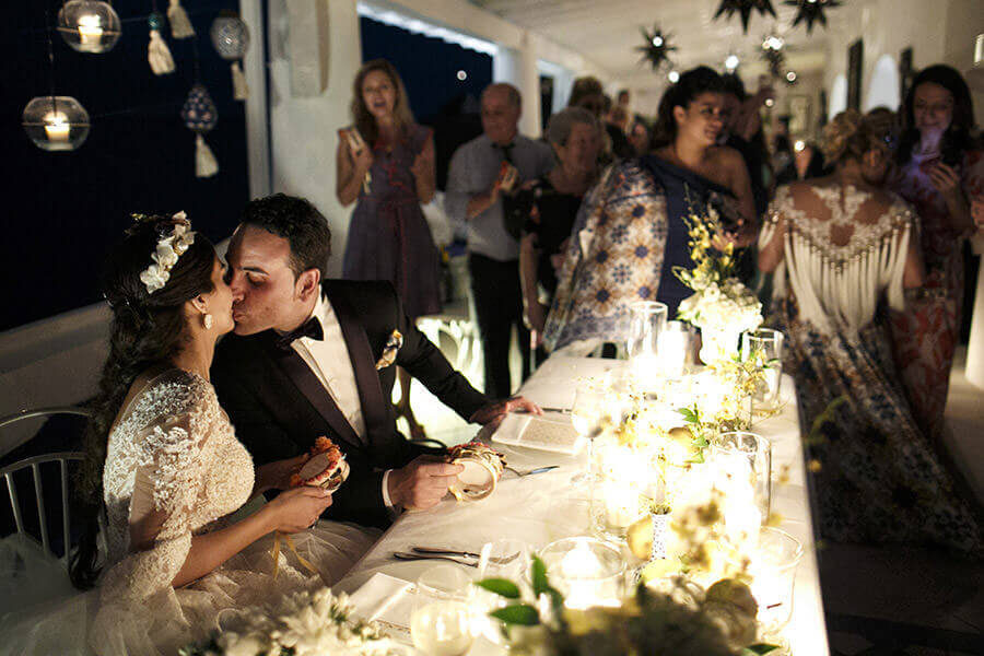 Fotografo Matrimonio Siena cena